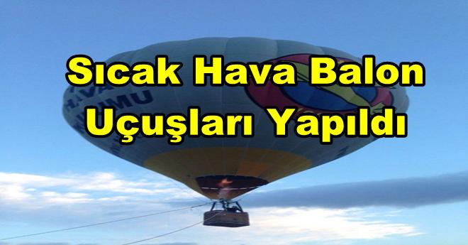 Afyon'da Sıcak Hava Balon Uçuşları Yapıldı