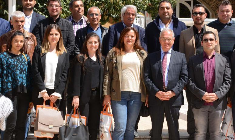 Dinar Belediye Başkanı Saffet Acar mimarları ağırladı