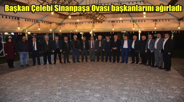 Başkan Çelebi Sinanpaşa Ovası başkanlarını ağırladı