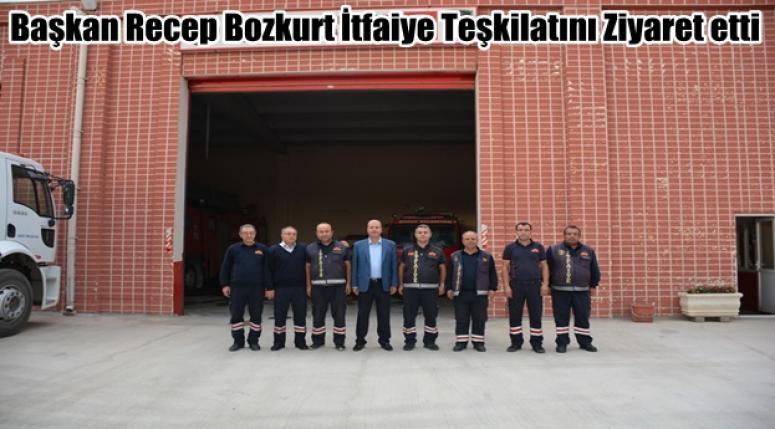 Recep Bozkurt İtfaiye Teşkilatını Ziyaret etti