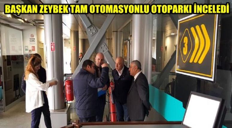 Türkiye'nin en büyük tam otomasyonlu otoparkı incelendi