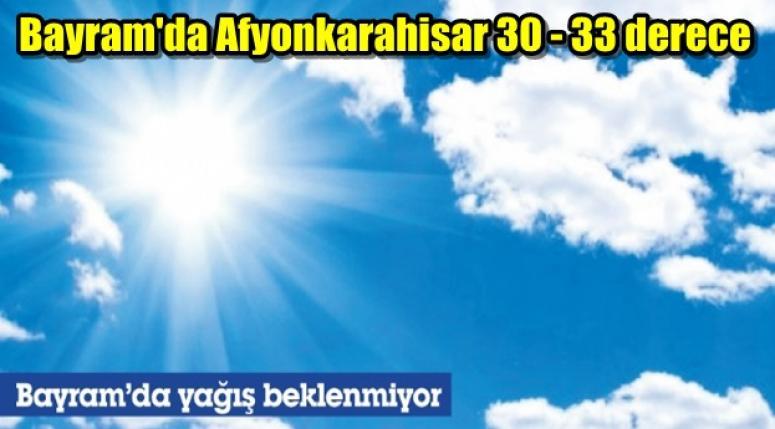 Bayramda Afyon 30-33 derece olacak