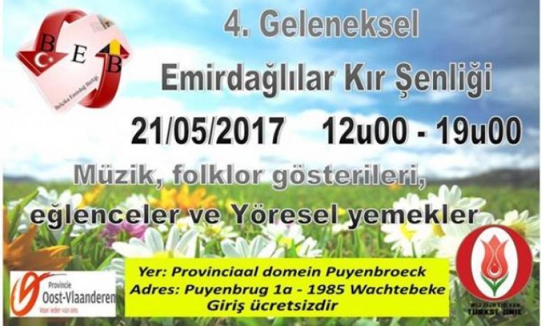 Belçika Emirdağlılar Birliği, Kır Şenliğine Hazır!