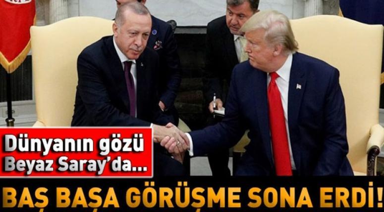 Recep Tayyip Erdoğan - Donald Trump görüşmesi sona erdi
