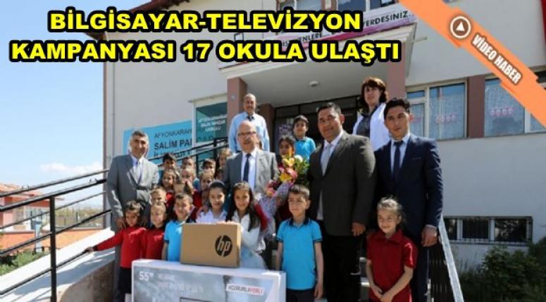 """Afyonkarahisar Belediyesin'den """"Her Okula, Bir Bilgisayar, Bir Televizyon"""" kampanyası"""