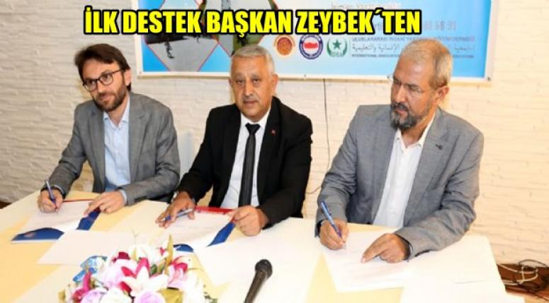 Yetimhane projesi´ne ilk destek Mehmet Zeybek'ten !!