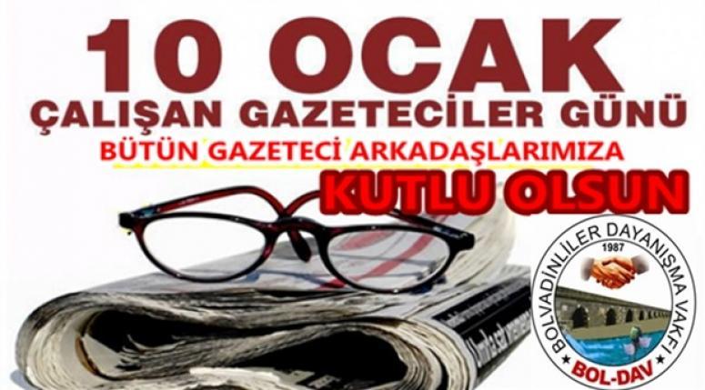 Boldav'dan Gazeteicilere Kutlama Mesajı