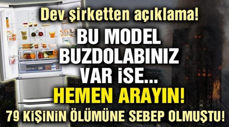BU MODEL BUZDOLABINIZ VARSA HABERİMİZİ OKUYUN !!