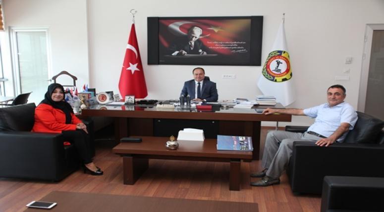CANSER KUZU, SERTESER'İ ZİYARET ETTİ