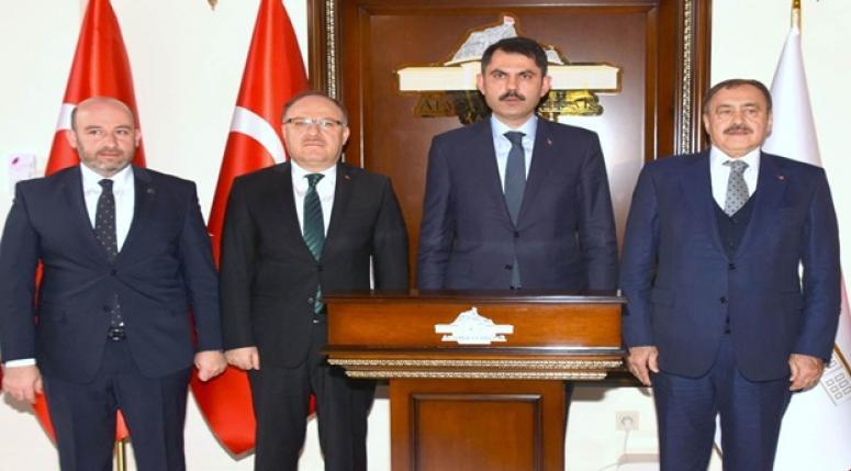 Bakan Murat Kurum Vali Mustafa Tutulmaz'ı Ziyaret Etti