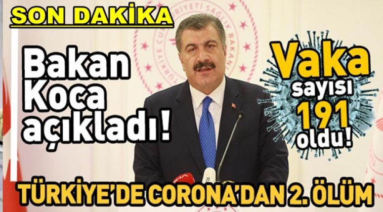 Bakan Koca açıklama yaptı !! Corona'dan ikinci ölüm !!