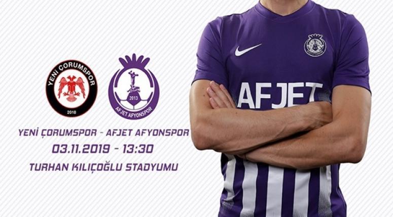 Yeni Çorumspor Afjet Afyonspor maçı ne zaman, saat kaçta, hangi kanalda?