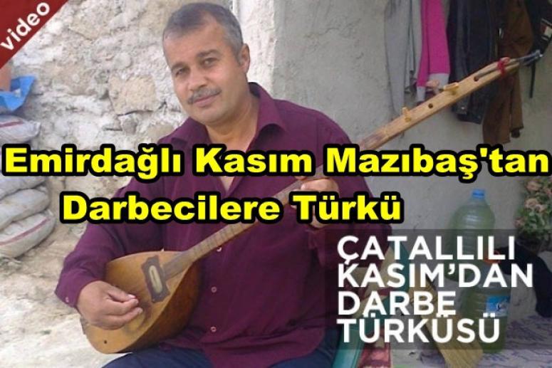 Afyonlu sanatçı dan Darbecilere Türkü !!!