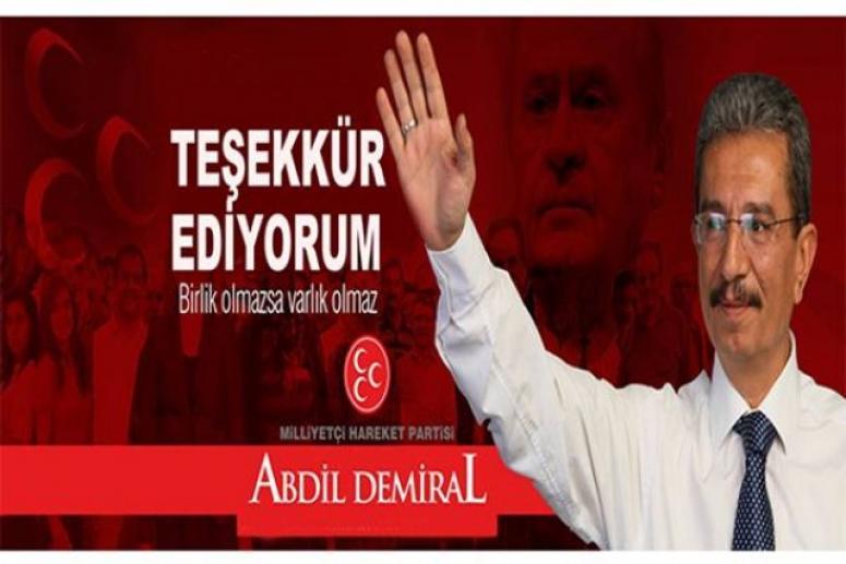 MHP Emirdağ İlçe Başkanı Demiral Oldu