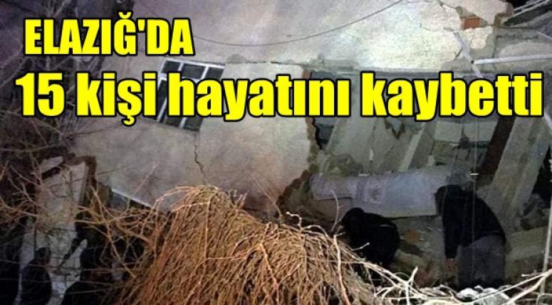 Elazığ'da 15 kişi hayatını kaybetti !!