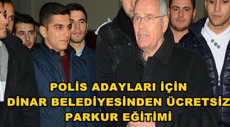 POLİS ADAYLARI İÇİN DİNAR BELEDİYESİNDEN ÜCRETSİZ PARKUR EĞİTİMİ