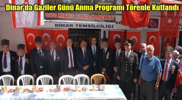 Dinar'da Gaziler Günü Anma Programı Kutlandı