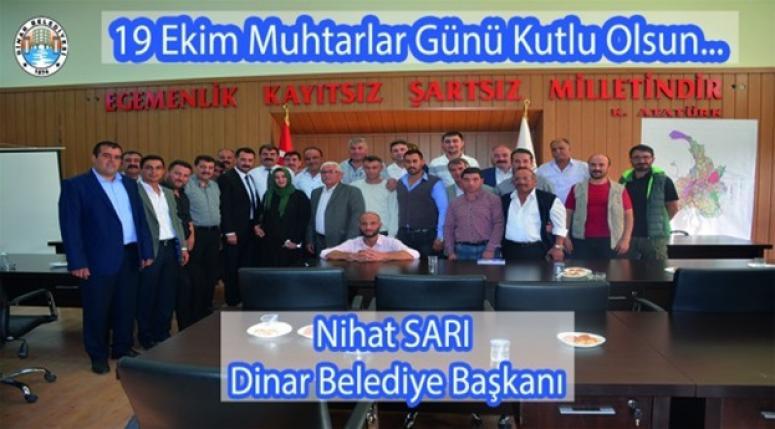 Dinarhaber - Nihat Sarı Muhtarlar Gününü kutladı !!
