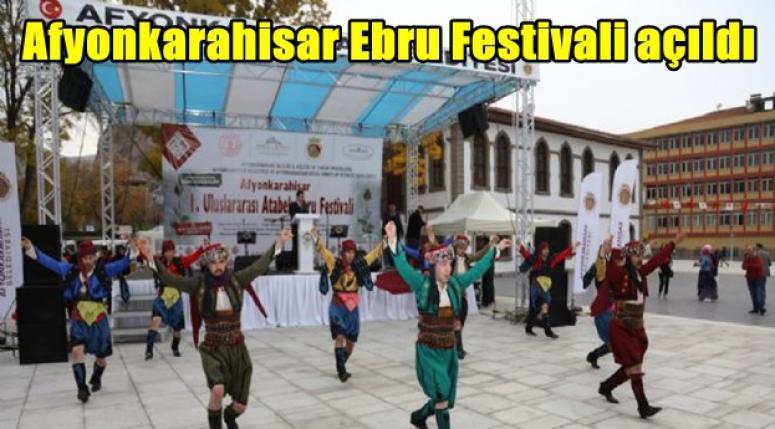 Afyonkarahisar Ebru Festivali açıldı