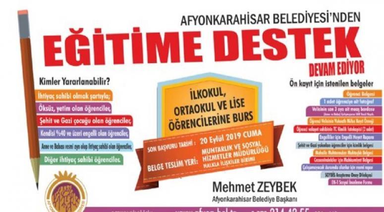 """Mehmet Zeybek müjdeyi verdi. """"Eğitim bursu"""" devam edecek"""