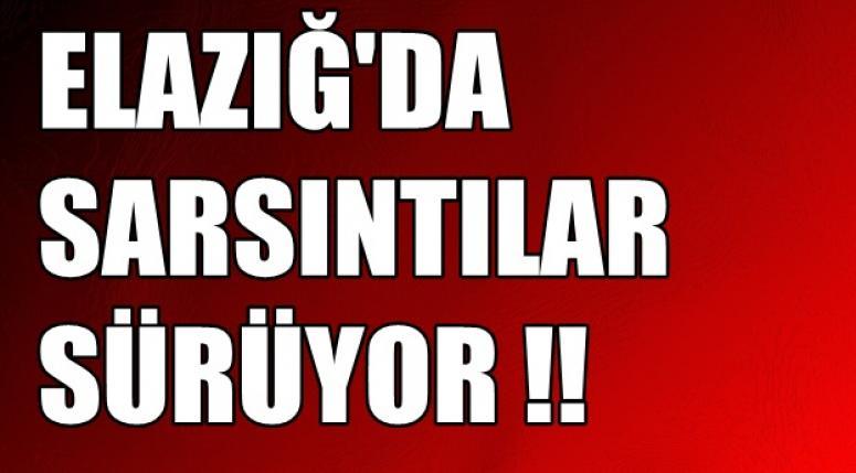 Elazığ'da Sarsıntılar Sürüyor !!