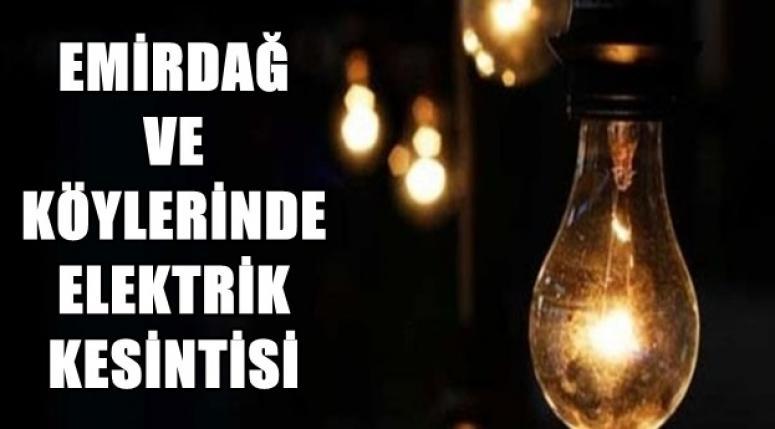 Emirdağ ve Köylerinde Elektrik Kesintisi