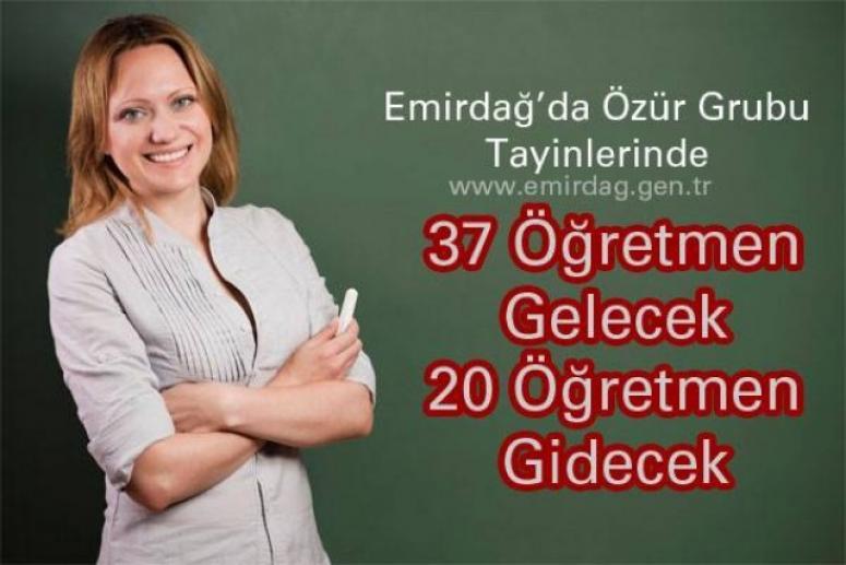 Emirdağ'a 37 Öğretmen Gelmesi Bekleniyor