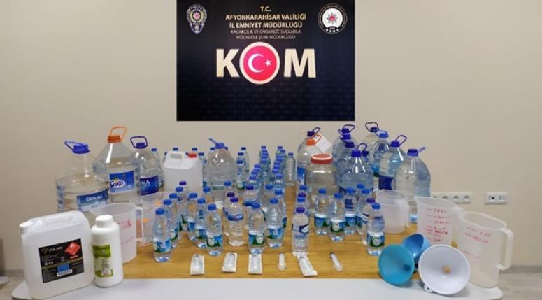 Sandıklı'da yılbaşı günü kaçak alkol operasyonu yapıldı