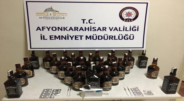 Afyon Otogar girişinde yakalandılar