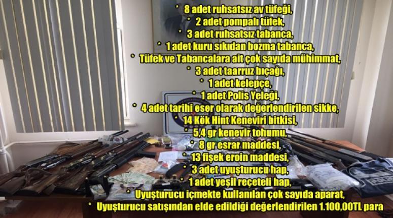AFYON'DA POLİS OPERASYONU !!! 21 ŞÜPHELİ GÖZALTINDA !!!