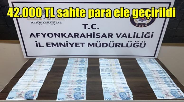 Afyonkarahisar'da Sahte Para ele geçirildi