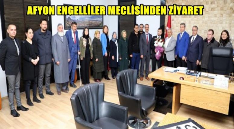 Zeybek, Afyonkarahisar Engelliler Dernek Başkanlarını kabul etti