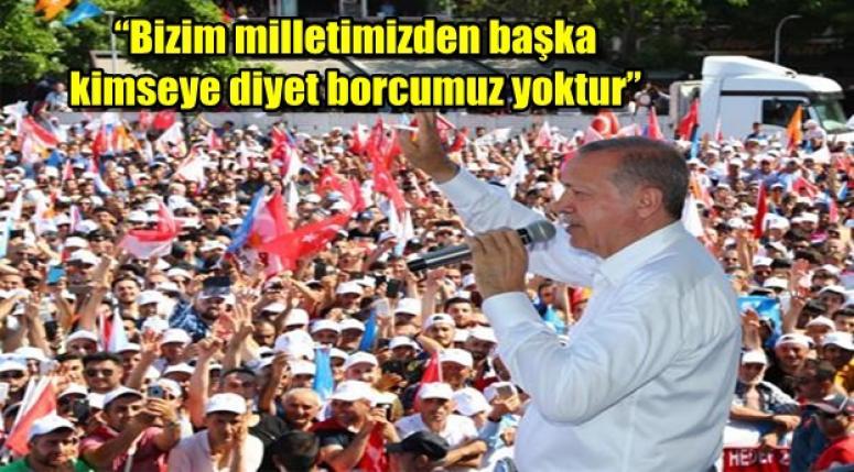 """Cumhurbaşkanı Erdoğan """"TÜM ENGELLERİN ÜSTESİNDEN MİLLETİN DESTEĞİYLE GELDİK"""""""