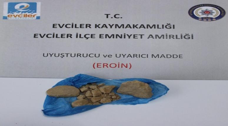 EVCİLER'DE UYARICI MADDE ELE GEÇİRİLDİ !!