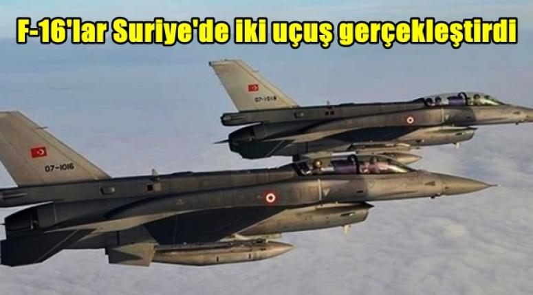 F-16'lar Suriye'de iki uçuş gerçekleştirdi