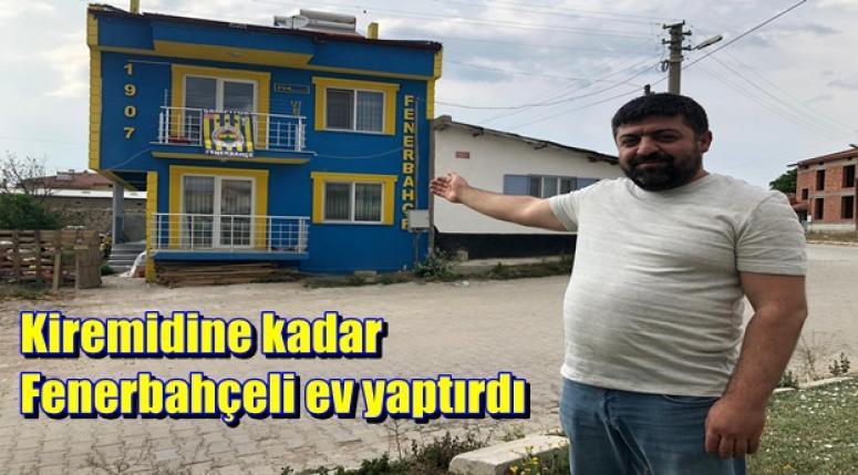Afyon'lu fanatik Fenerbahçeli ev yaptırdı