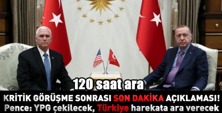 ABD ve Türkiye Suriye'de ateşkes için anlaştı