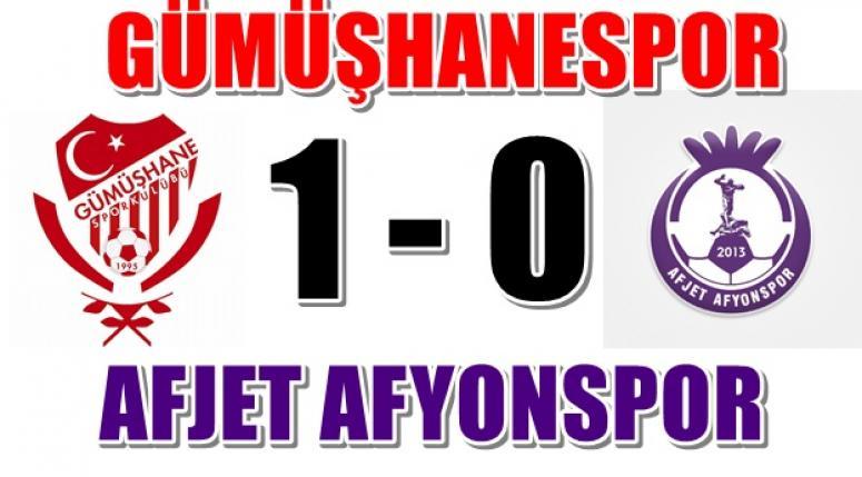 Gümüşhanespor 1 - Afjet Afyonspor 0