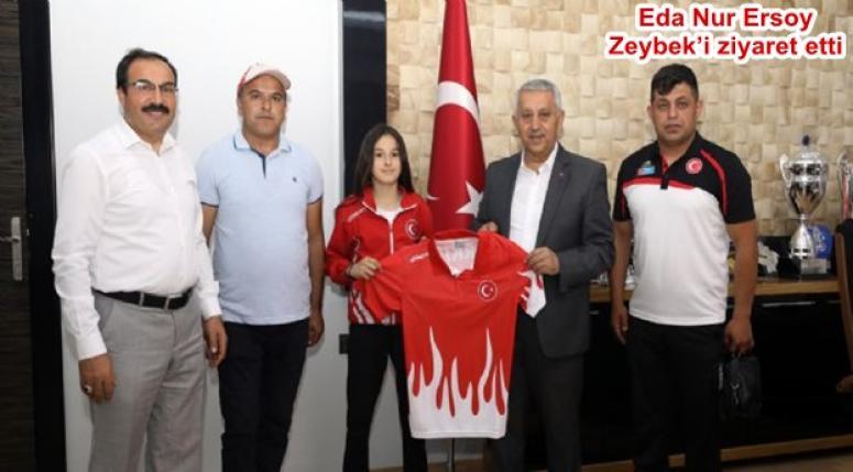 Eda Nur Ersoy Zeybek'i ziyaret etti