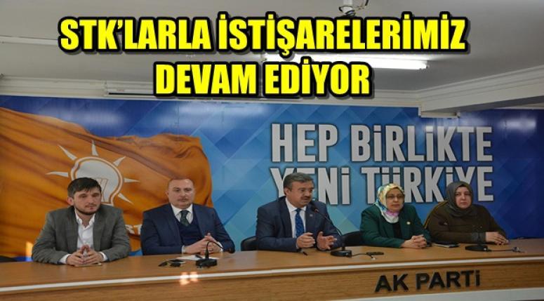 AFYON AK PARTİ'NİN STK'LARLA İSTİŞARELERİ DEVAM EDİYOR