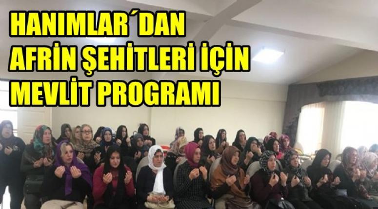 H.Nermin Erbakan Hanımlar Lokali'nde mevlid okundu
