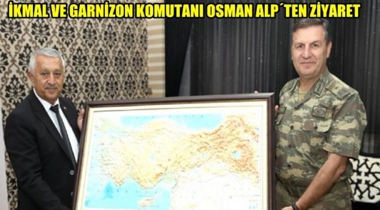 Tuğgeneral Osman Alp, Mehmet Zeybek'e iade-i ziyarette bulundu