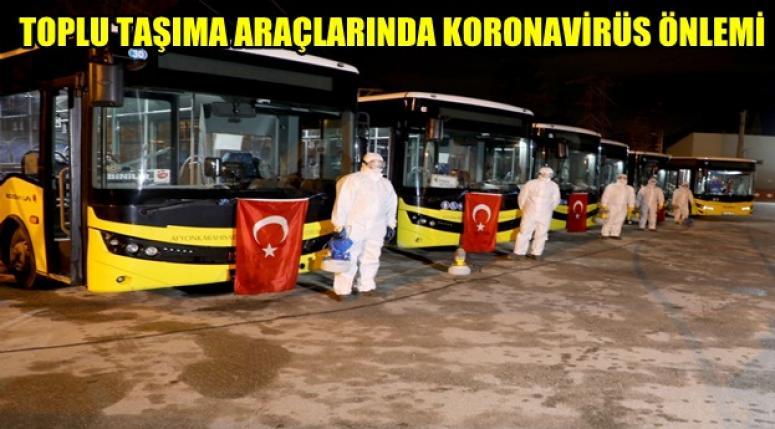 Afyonhaber - Toplu taşımalara Koronavirüs önlemi