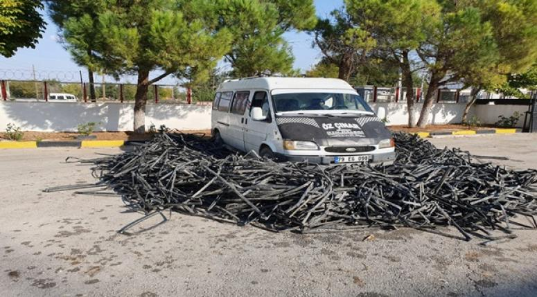 Damlama sulama borularını çalanlar yakalandılar !!