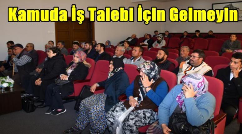 Afyon'da halk günü toplantısı yapıldı