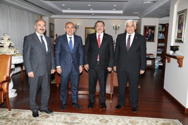 Kilis Belediye Başkanı Kara'dan, Bakan Eroğlu'na ziyaret