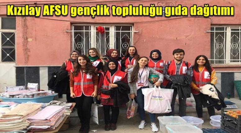 Kızılay AFSU gençlik topluluğu gıda dağıtımı