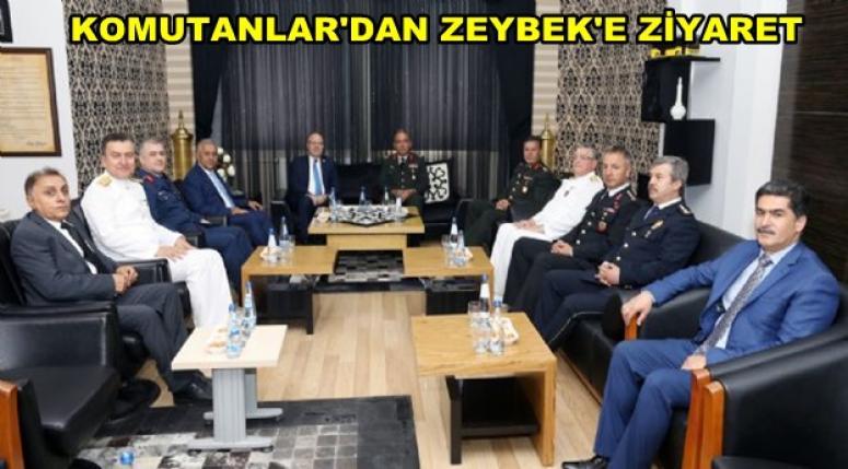 Komutanlar'dan Zeybek'e Ziyaret !!