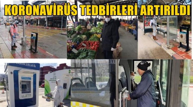 AFYON'DA KORONAVİRÜS TEDBİRLERİ ARTIRILDI