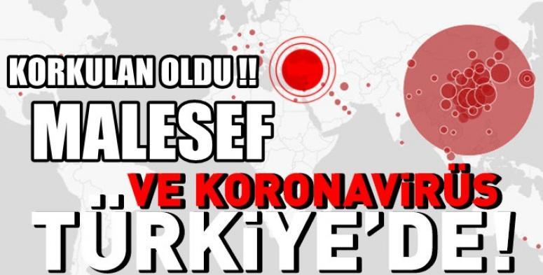 Bakan açıklama yaptı !! Koronavirüs Türkiye'ye sıçradı !!